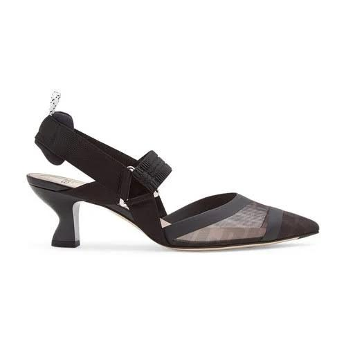 Fendi - Slingback, Women , Black