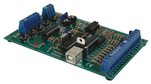 Velleman K8055N Experimentkort för USB från Elfa Distrelec
