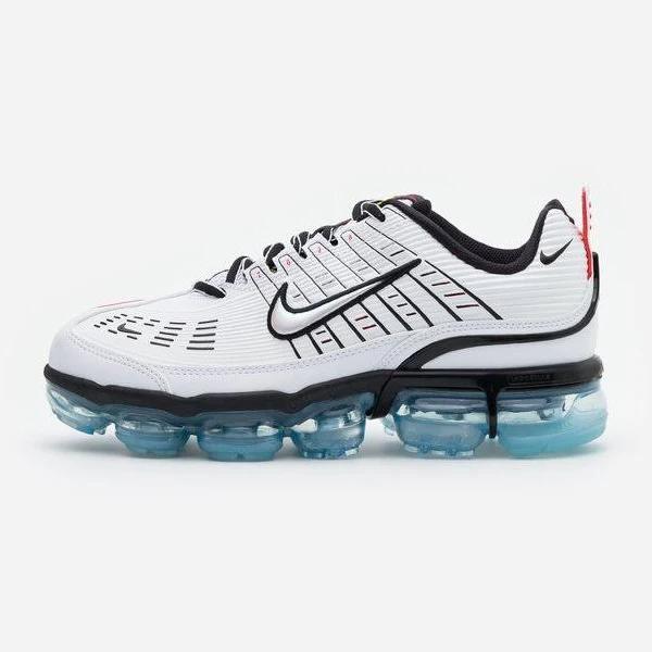 Nike Sportswear AIR Vapormax 360 Sneakers white/black/speed yellow/chile red/bleached aqua, gender.adult.unisex, Storlek: 49.5, Vit