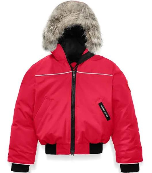 CANADA GOOSE Red Down Filled Bomber Jacket