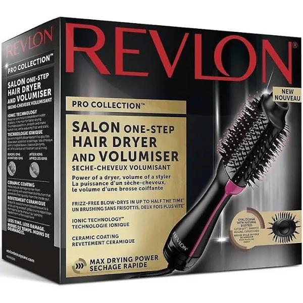 REVLON Pro Collection Salon One Step hårfön och Volumiser-DR5222 Svart / rosa