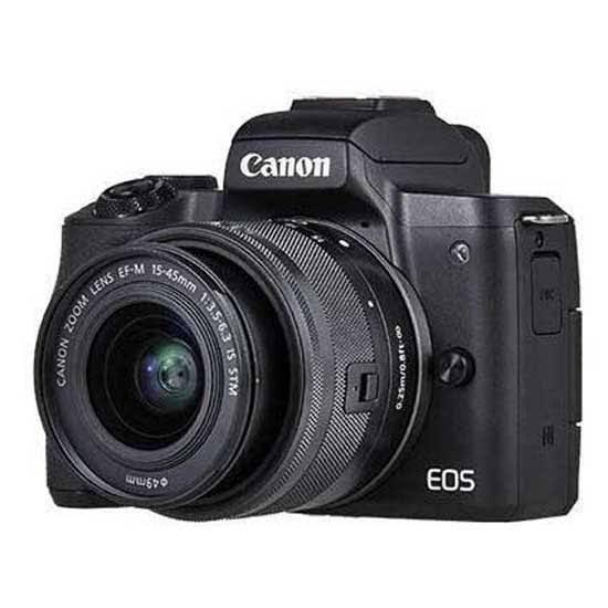 Canon EOS M50 Body + EF-M 15-45mm IS STM + EF-M 55-200mm IS STM – Black