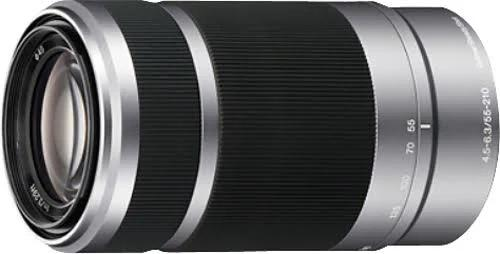 Sony - 55-210Mm F/4.5-6.3 E-Mount Telephoto Zoom Lens - Silver