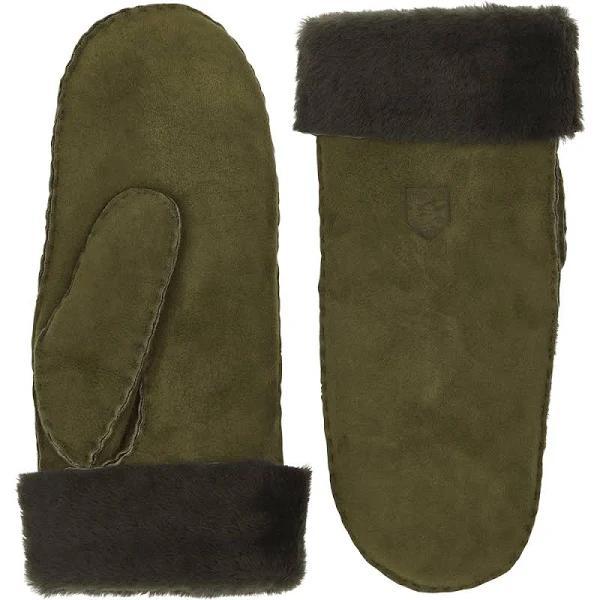 Hestra Gloves Sheepskin Mitt In Green