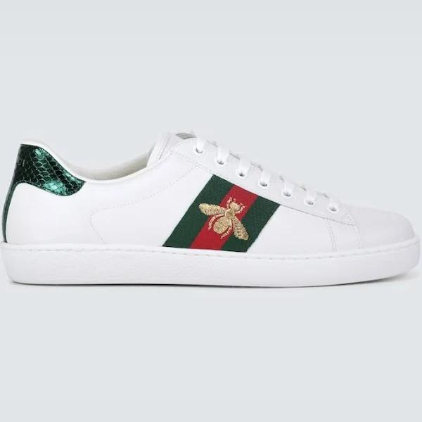 Gucci Men, Ace leather sneakers, White, EU 44, Shoes
