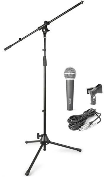 Mikrofon-kit Med Stativ Och Bärväska. Sky-180.059 Vonyx Microphone Stand Kit