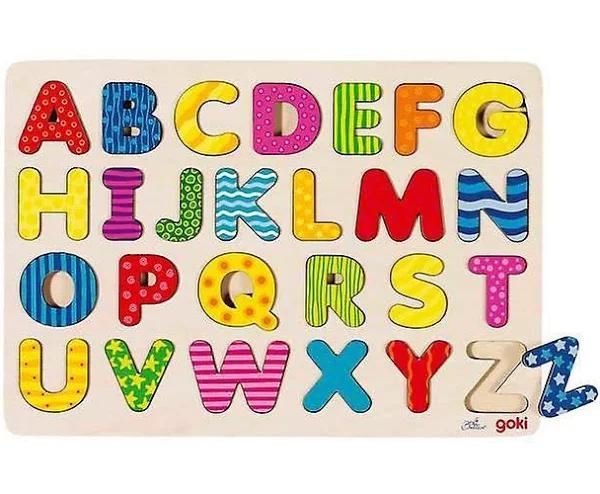 Goki inlaga Puzzle-ABC versaler