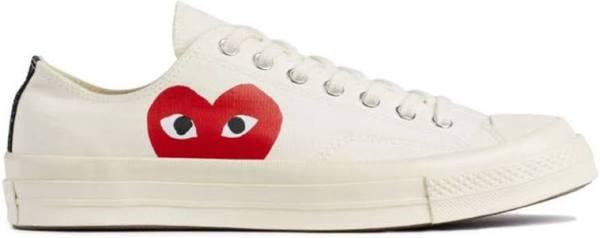 Converse Chuck 70 Low Top x Comme des Garcons Play CDG - White Canvas Shoes/Sneakers 150207C (EU Size 39.5)