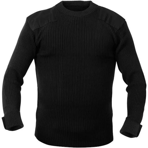 Rothco Commando Sweater - G.I. Style (Svart, 5XL)
