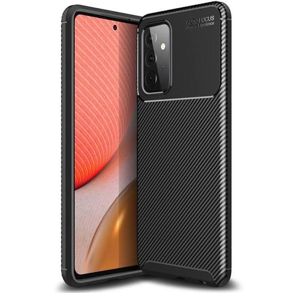 Olixar Carbon Fibre Samsung Galaxy A72 Case - Black
