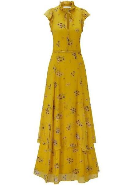 IVY & OAK - Kortärmade klänningar - Gul - Dam - Storlek: 44