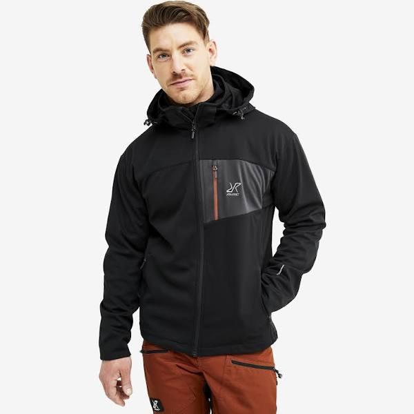 RevolutionRace - Hybrid Jacket 2.0 - Herr - Black, Storlek:XL - Skaljacka & Vindjacka