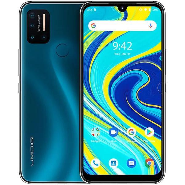 UMIDIGI UMIDIGI A7 Pro Globala band 6,3 tums FHD + Android 10 4150mAh 16MP AI Fyrkamera 3 kortspår 4 GB 64GB Helio P23 4G Smartp