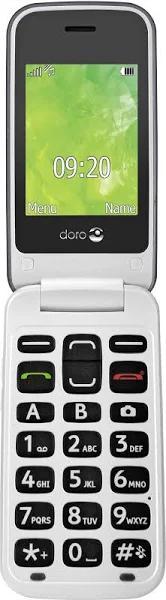 Doro 2424 - Mobiltelefon - GSM - 320 x 240 pixlar - 3 MP - silver, champagne