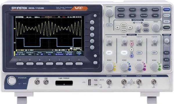 GW Instek GDS-1104B Digitalt oscilloskop 100 MHz 1 GSa/s 10 Mpts 8 Bit