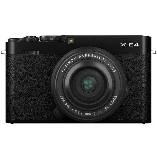 Fujifilm X-E4 + XF 27/2.8 R WR, svart