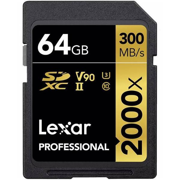 SDXC Card 64GB Professional 2000x UHS-II V90 U3 Hardware/Electronic
