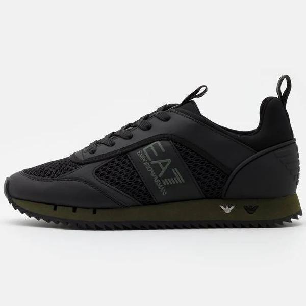 EA7 Emporio Armani Sneakers triple black/grape, gender.adult.unisex, Storlek: 41 1/3, Svart - Konstmaterial/textil