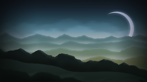 Misty Night Background
