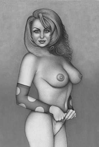 Maria - pinup drawing