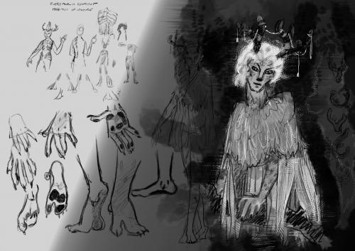 Character sketching