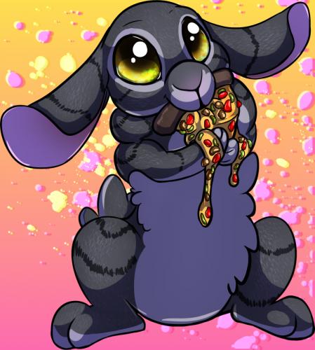 Pizza Bunny Sticker - Veggie L