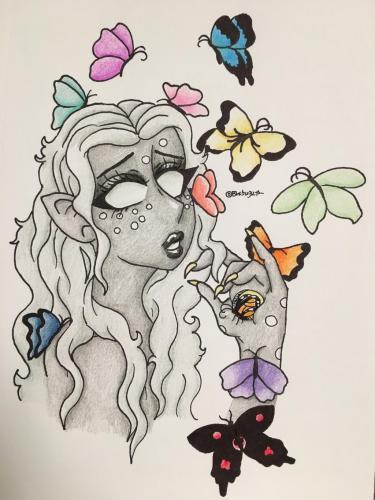(Redraw) Butterfly Queen
