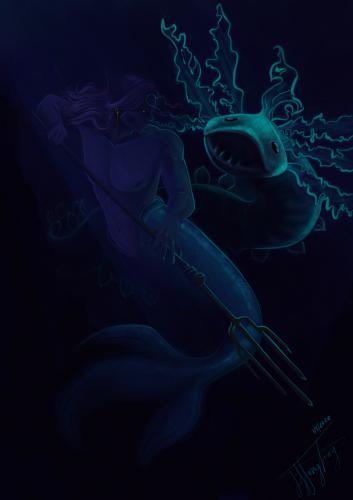 Lycidas and sea creature