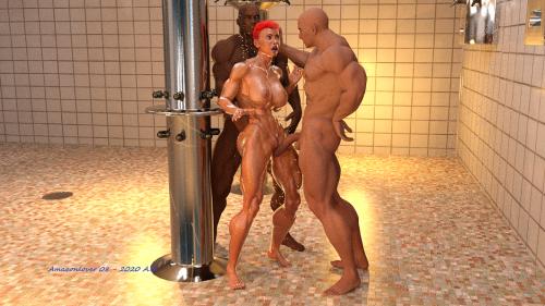 Shower gang sex 1B