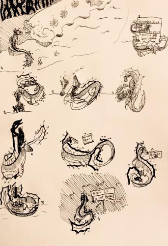 DoA Drawlloween (1-9, and 13)