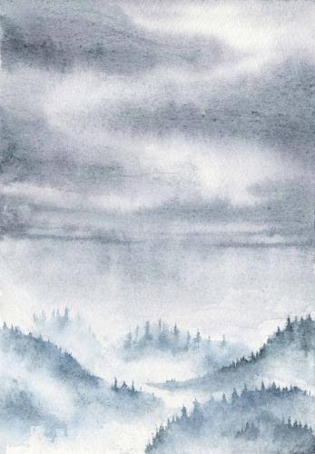 Blue mystic mountains
