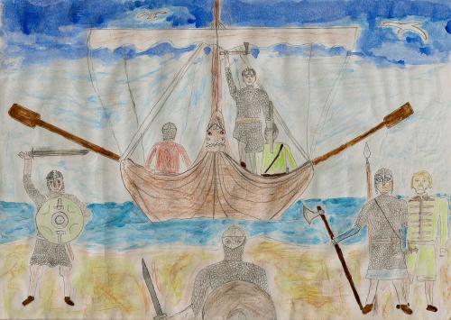 The Vikings landing