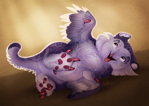 a very fluffy hatchling