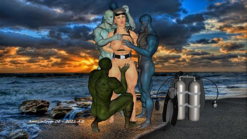 Frogwoman Leelo Beached 1D