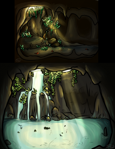 Dino makes caves