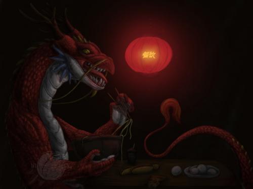 Hungry Dragon fan-art (OLD).