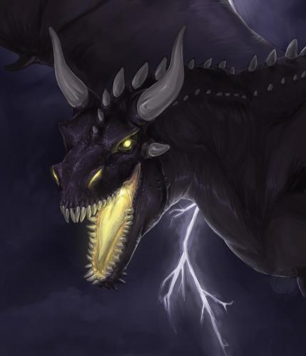 Big black dragon.
