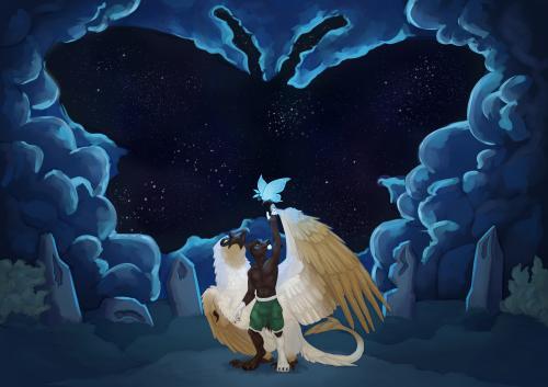 Dracostryx Bonding - Yrrvis and Élfren
