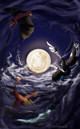 Fly with the moon