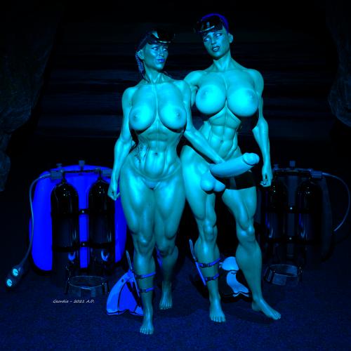 Sydney and Diana Moonlight Dive 2B