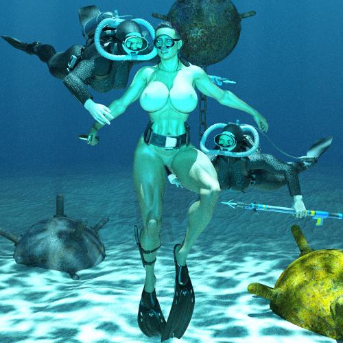 Keri trapped underwater