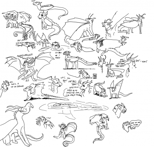 Daily Dragon Doodles 1 - 31
