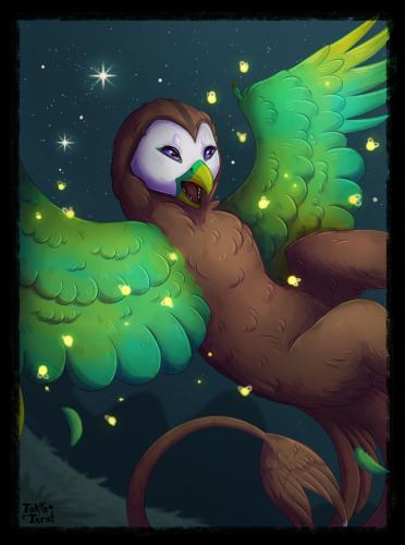 Moonlight and Fireflies
