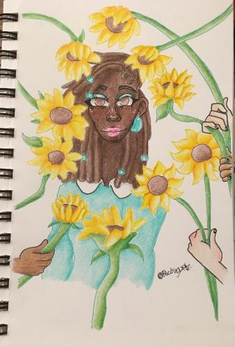 Draped in Sunflowers