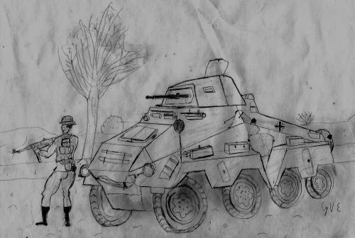 Sdkfz 231 8Rad and Soldier
