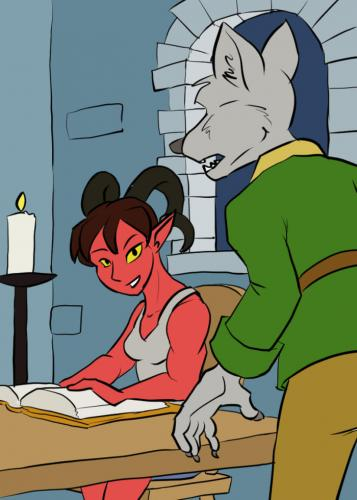 Topper meets Izre in the tower