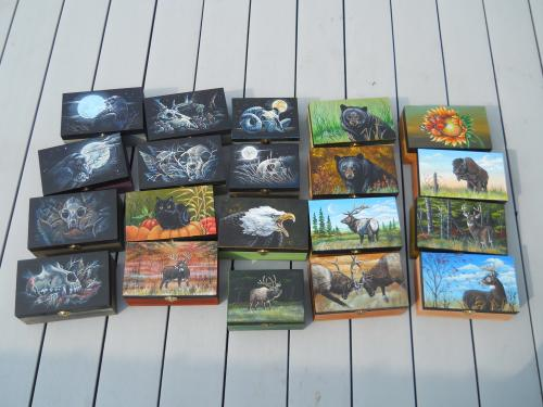 Hand Painted Wooden Boxes