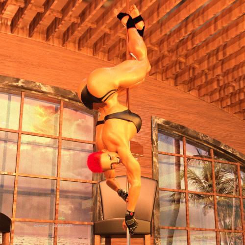 Pole Dancing seductress Parker 1C