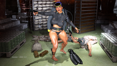 Frogwoman Raiding Treasury 2H