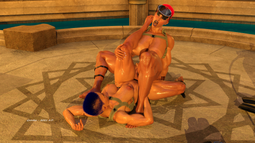 Lovemaking in Anubis Temple 3E